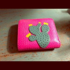 Fossil Cactus Mini Leather Wallet